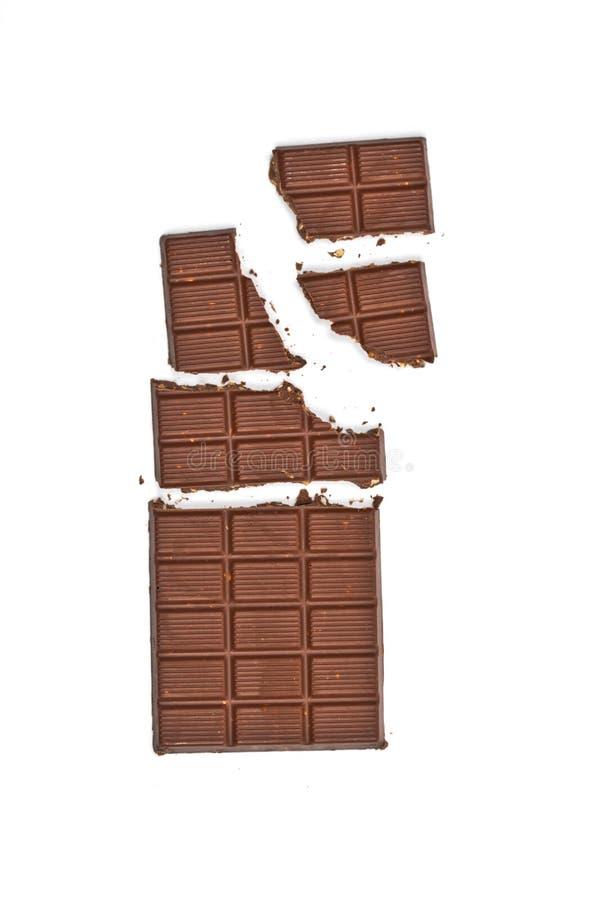 Avelã quebradas da sagacidade da barra de chocolate do leite foto de stock royalty free