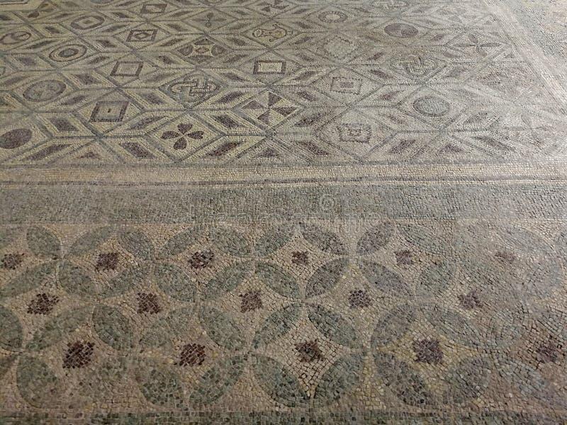 Avellino - Detail van de mozaïekvloer stock foto's