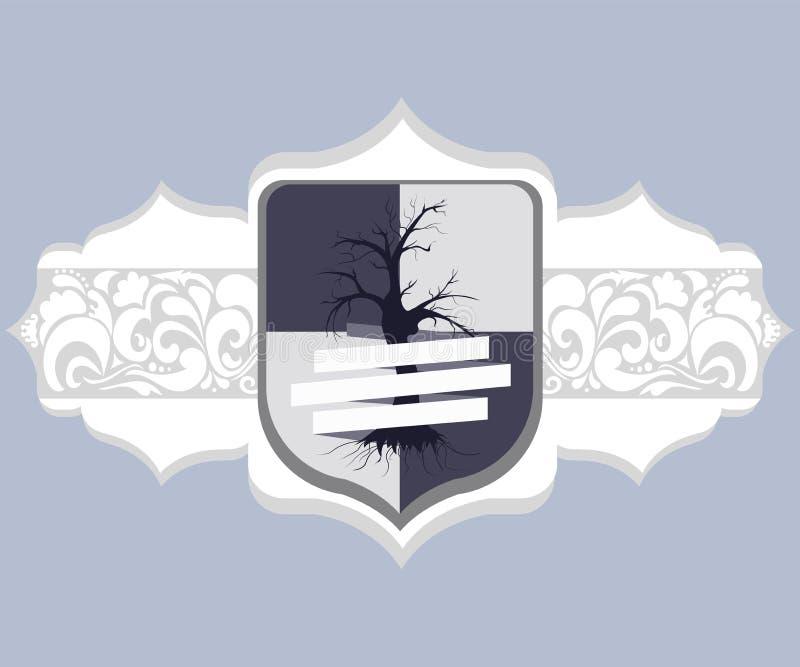 Avena del ¡ di Ð delle armi con le decorazioni illustrazione vettoriale