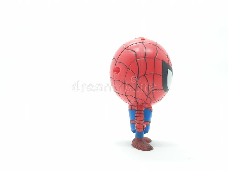 Avengers Hulk Spiderman Captain America Plastic from Movie Toys Model in White Isolated Background. For Kids and Families Hobby Leisure animation art artist stock image