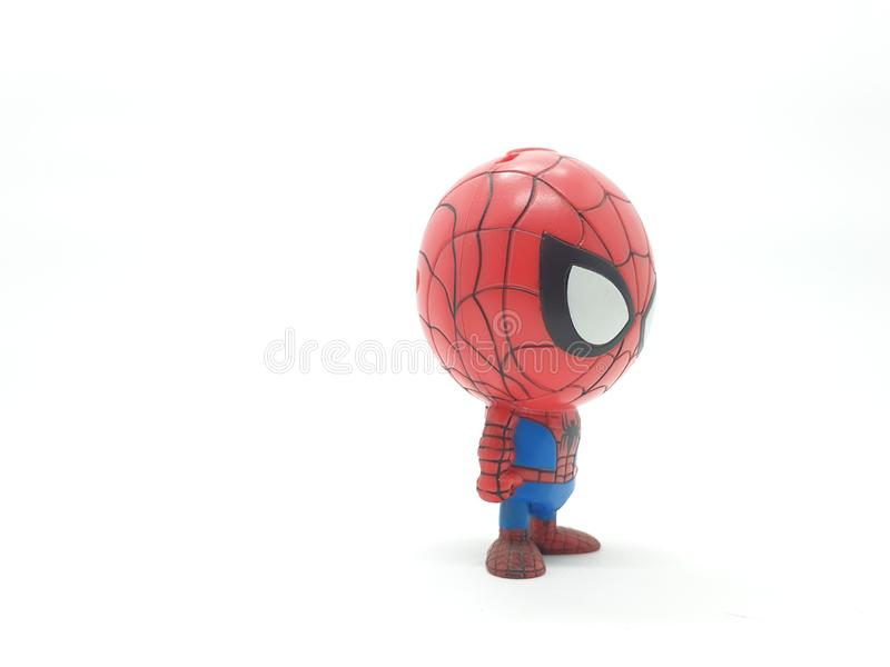 Avengers Hulk Spiderman Captain America Plastic from Movie Toys Model in White Isolated Background. For Kids and Families Hobby Leisure animation art artist royalty free stock photos