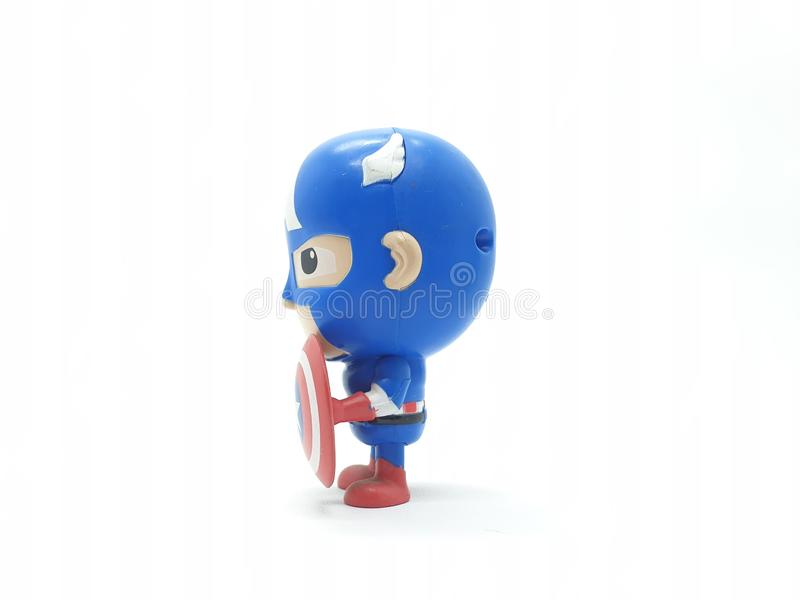 Avengers Hulk Spiderman Captain America Plastic from Movie Toys Model in White Isolated Background. For Kids and Families Hobby Leisure animation art artist stock images