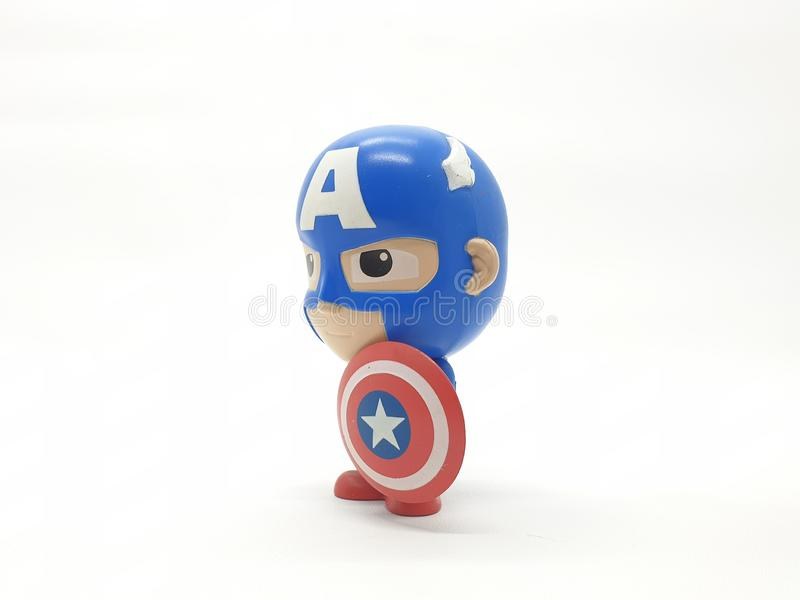 Avengers Hulk Spiderman Captain America Plastic from Movie Toys Model in White Isolated Background. For Kids and Families Hobby Leisure animation art artist royalty free stock photography