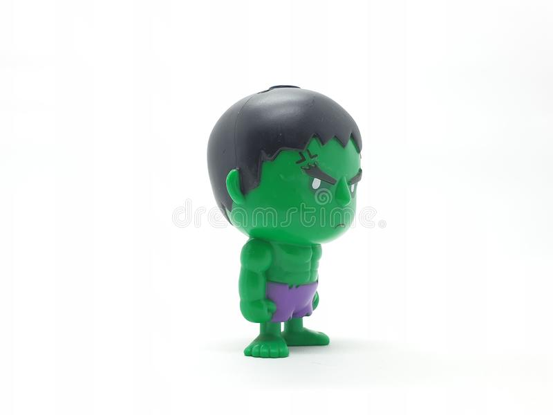 Avengers Hulk Spiderman Captain America Plastic from Movie Toys Model in White Isolated Background. For Kids and Families Hobby Leisure animation art artist royalty free stock image
