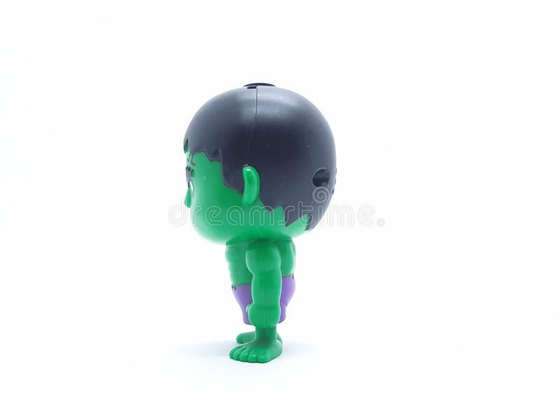 Avengers Hulk Spiderman Captain America Plastic from Movie Toys Model in White Isolated Background. For Kids and Families Hobby Leisure animation art artist stock photos