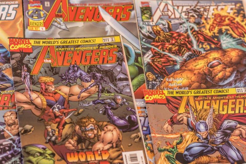 The Avengers Marvel comics superheroes royalty free stock photos