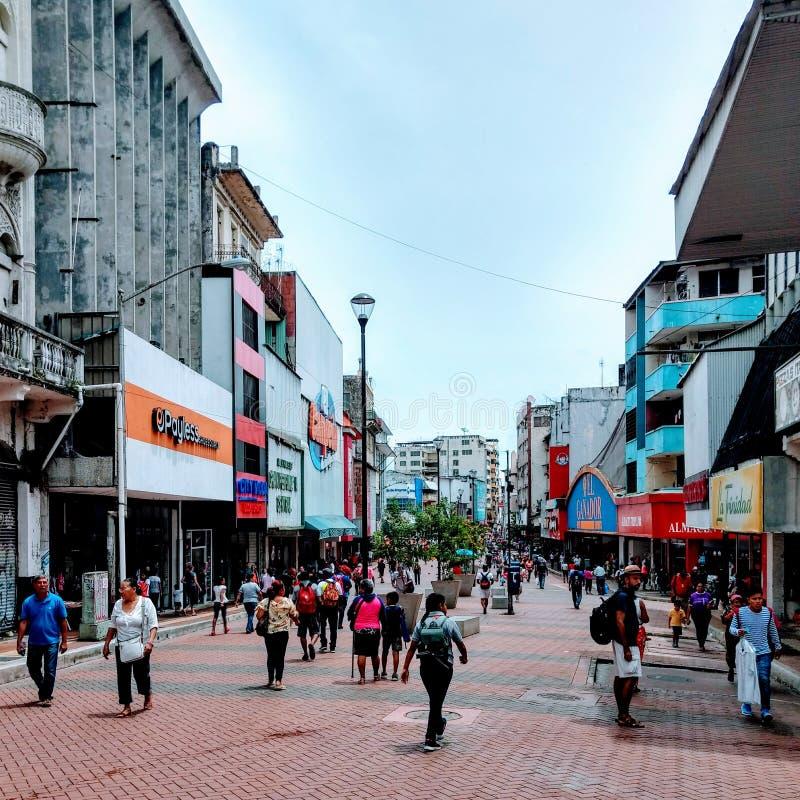 Avenida中央巴拿马城, Panamà ¡ 免版税库存图片