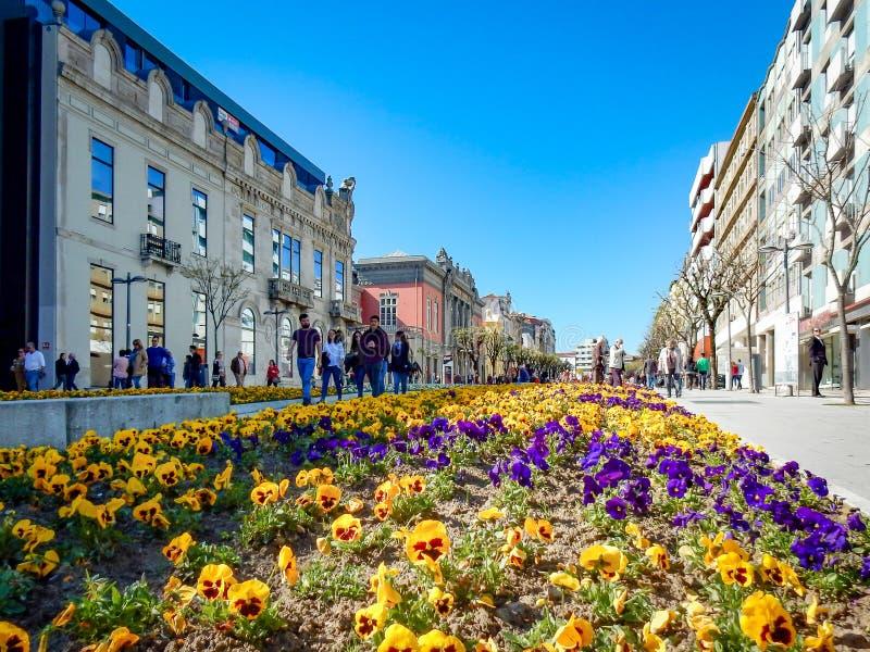 Avenida Braga Portugal de Liberdade fotos de stock