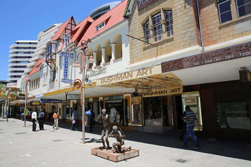 Avenida da independência. Windhoek fotos de stock