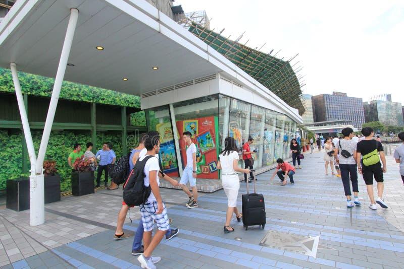 A avenida das estrelas em Hong Kong imagem de stock royalty free