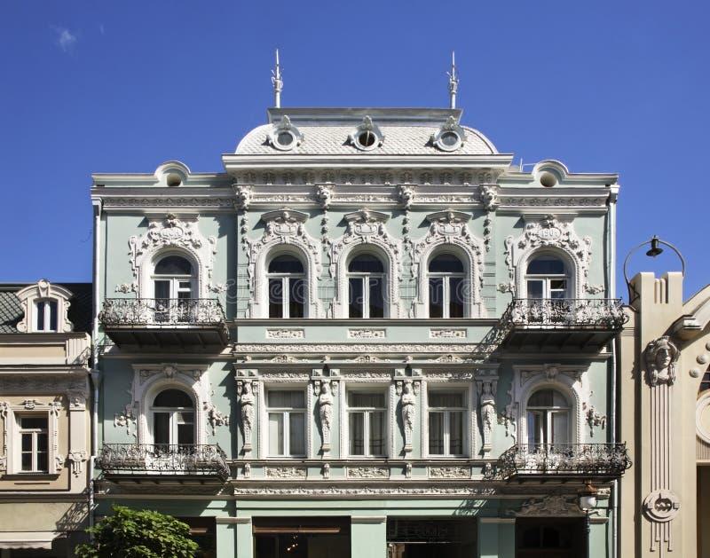 Avenida de Agmashenebeli em Tbilisi geórgia imagens de stock