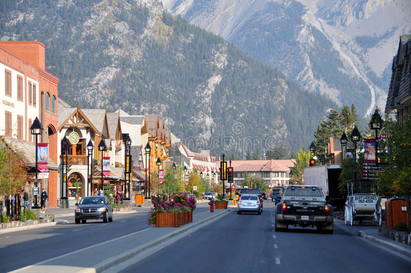 Avenida de Banff foto de stock