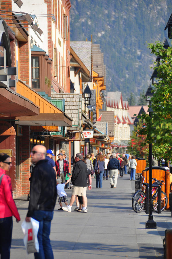 Avenida de Banff fotografia de stock