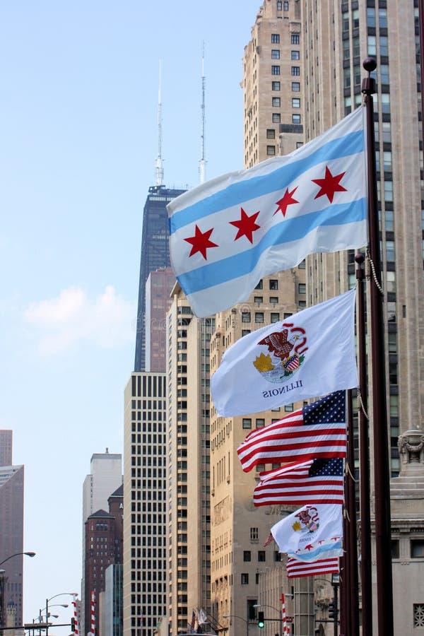Avenida de Chicago Michigan imagens de stock