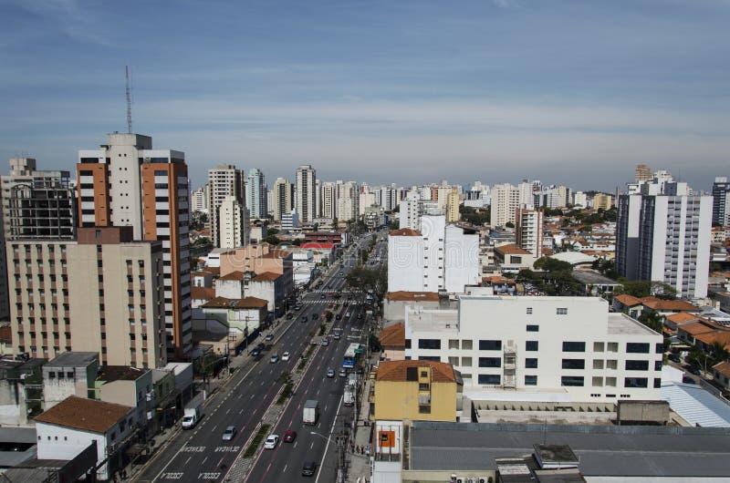 Avenida de Domingos de Morais imagens de stock royalty free