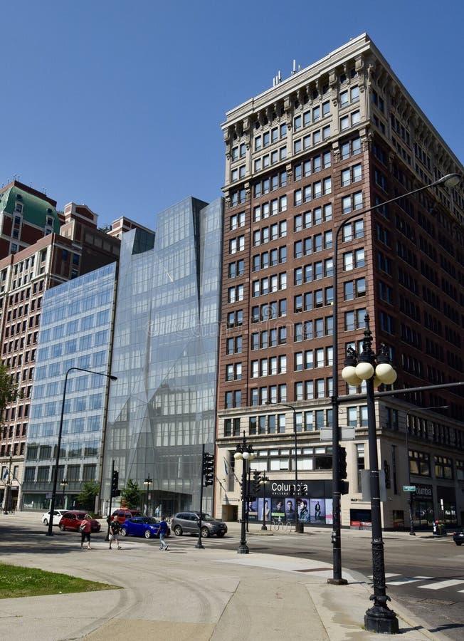 Avenida de Harrison & de Michigan fotos de stock royalty free
