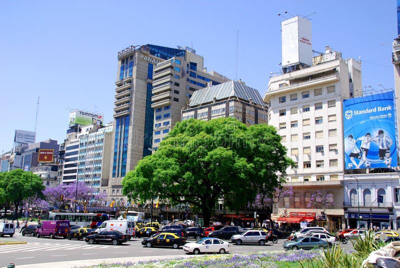 Avenida 9 DE Julio stock foto
