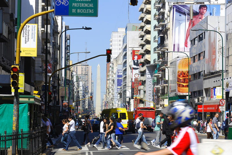 Avenida 9 de Julio imagen de archivo
