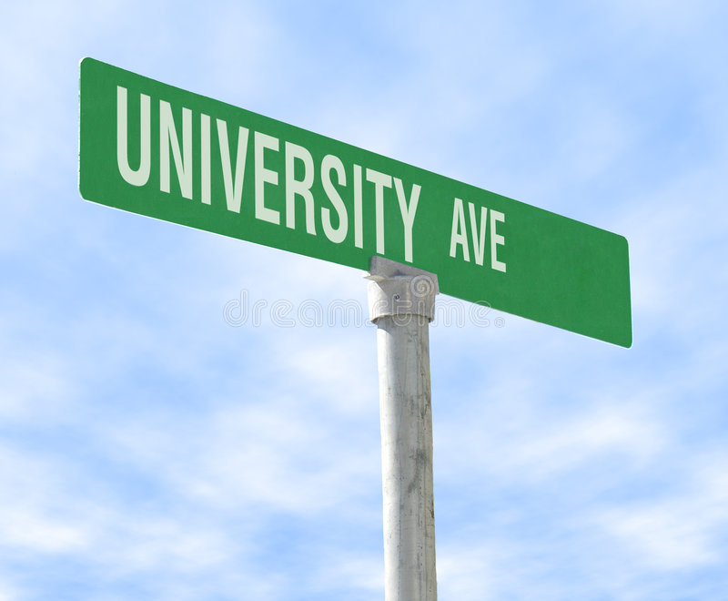 Avenida de la universidad imagen de archivo libre de regalías