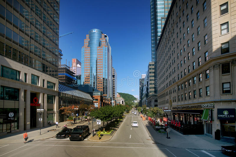 Avenida de la universidad de McGill fotografía de archivo libre de regalías