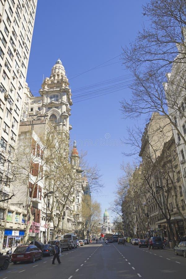 Avenida de maio em Buenos Aires. imagem de stock royalty free