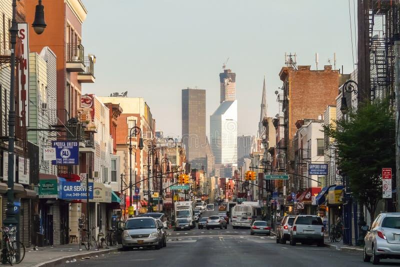 Avenida de Manhattan en Greenpoint fotografía de archivo libre de regalías