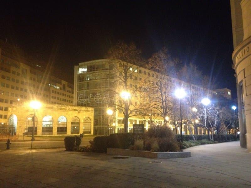 Avenida de Massachusetts y calle capital del norte imágenes de archivo libres de regalías