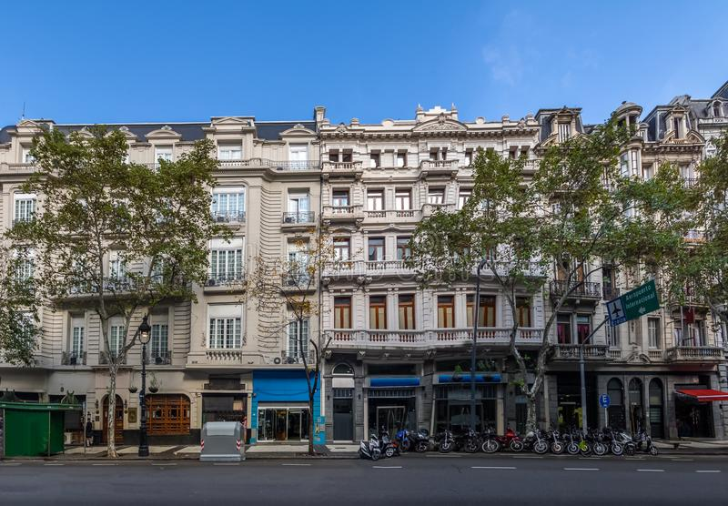 Avenida de Mayo - Buenos Aires, Argentina. Avenida de Mayo in Buenos Aires, Argentina royalty free stock photo