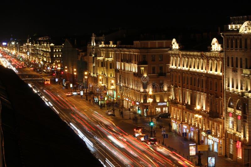 Avenida de Nevsky imagens de stock royalty free