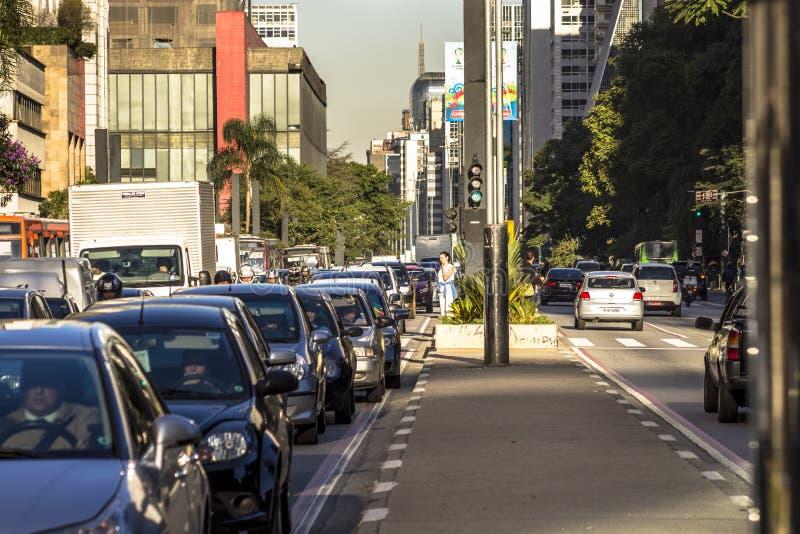 Avenida de Paulista imagens de stock