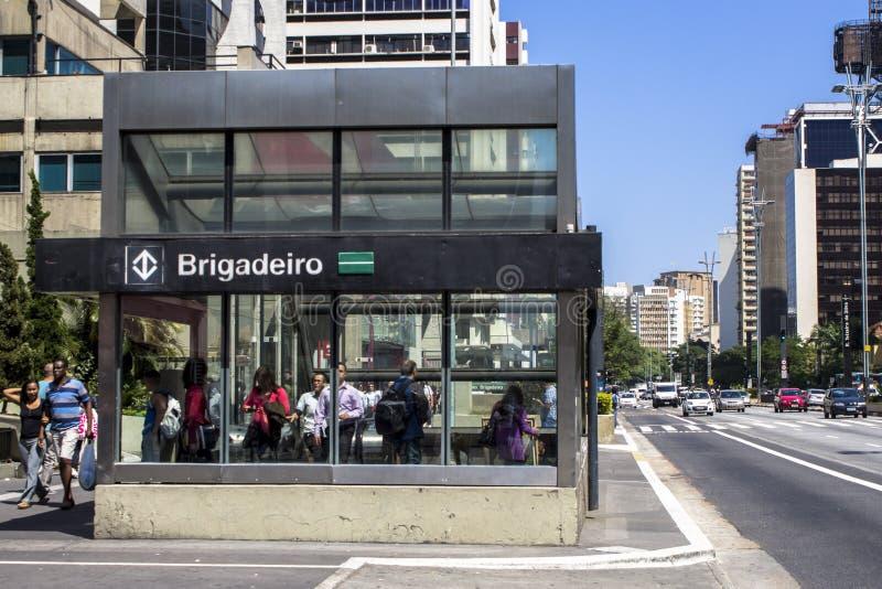 Avenida de Paulista foto de stock