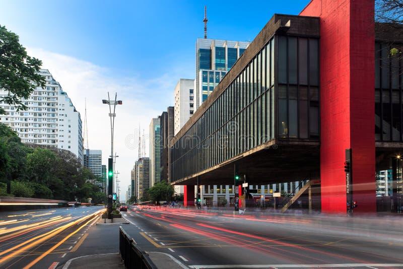 Avenida de Paulista em São Paulo - Brasil imagem de stock royalty free