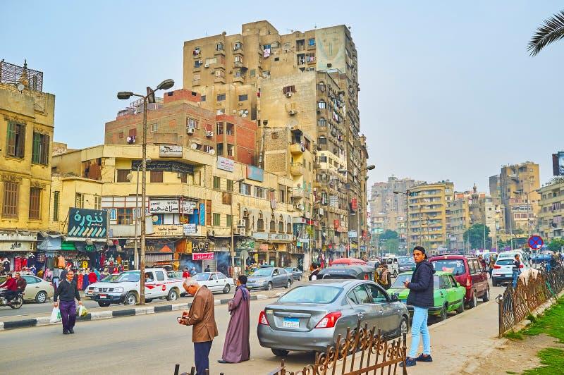 Avenida de Porto Said, o Cairo, Egito fotografia de stock royalty free