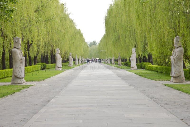 Avenida dos animais, Beijing, China imagens de stock