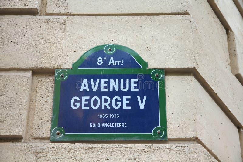 Avenida em Paris foto de stock royalty free