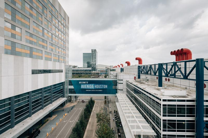 Avenida Houston and the George R. Brown Convention Center in Houston, Texas.  stock photos