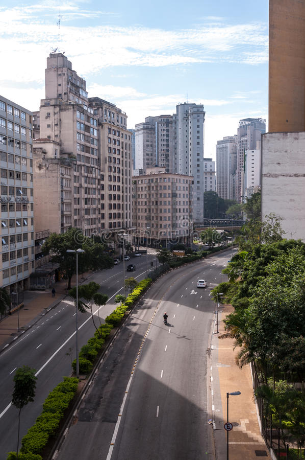 Avenida julho 9o em Sao Paulo foto de stock royalty free