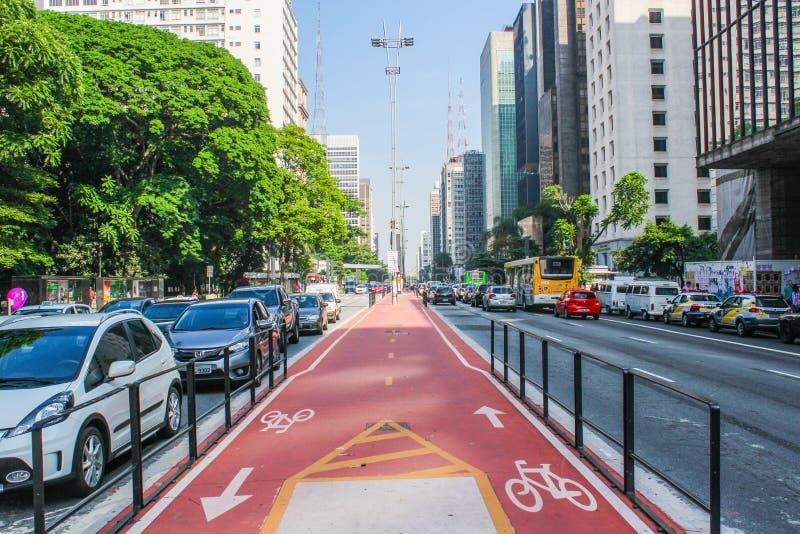 Avenida Paulista, οδός στοκ φωτογραφίες