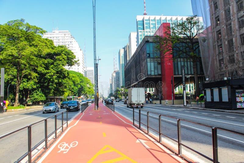 Avenida Paulista, οδός στοκ εικόνα