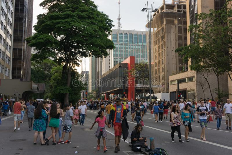 Avenida Paulista photo stock