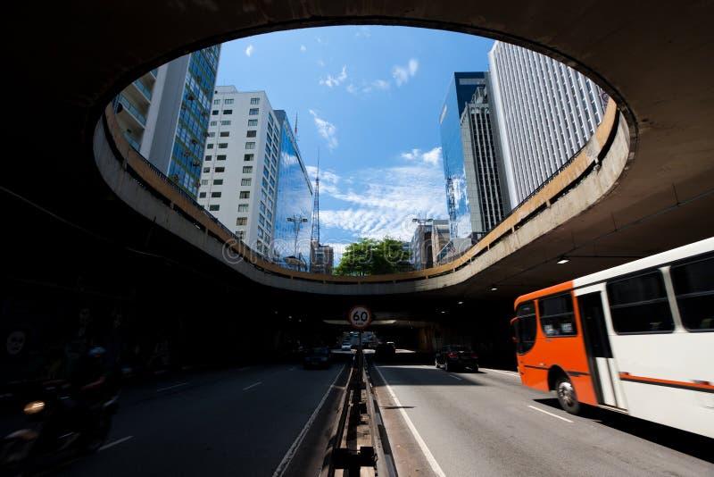 Avenida Paulista fotografia de stock