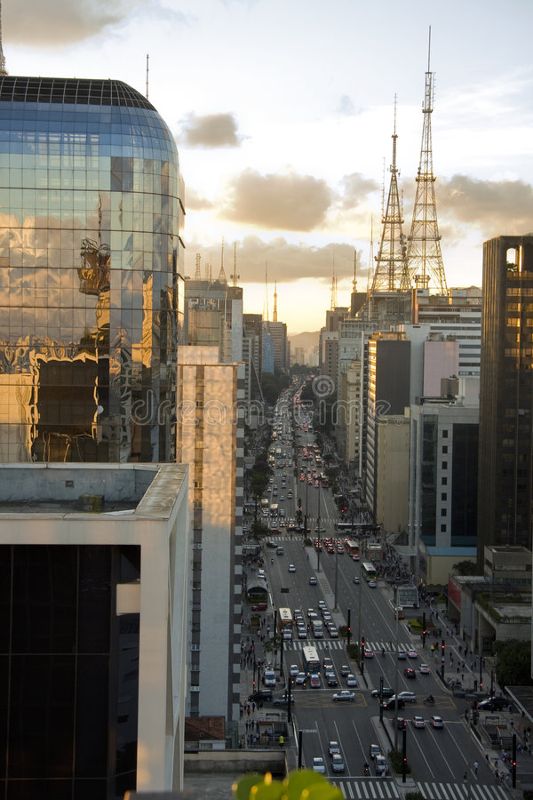 Avenida Paulsta lizenzfreies stockbild