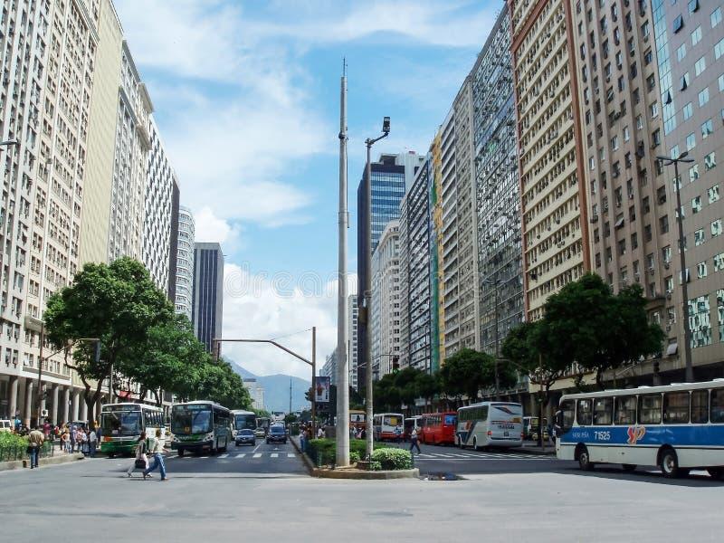 Avenida Presidente Vargas royalty-vrije stock foto's