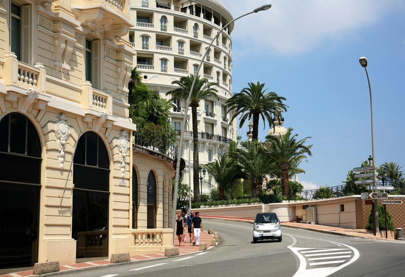 Avenida Princesse Alice Monaco Monte Carlo foto de archivo libre de regalías