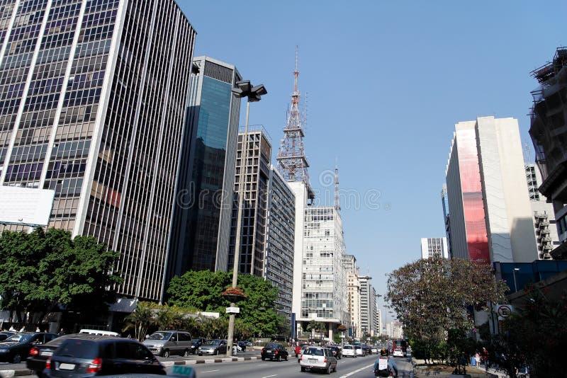 Avenida Sao Paulo de Paulista foto de stock royalty free