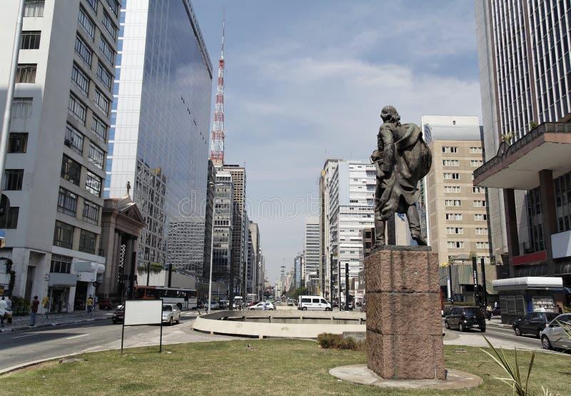 Avenida Sao Paulo de Paulista imagem de stock royalty free
