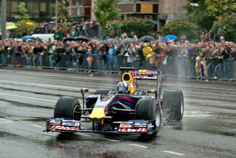 Avenida Vilnius da velocidade de Red Bull foto de stock royalty free