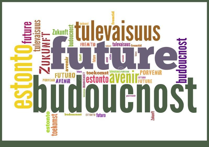 Avenir de nuage de Word dans différentes langues images stock
