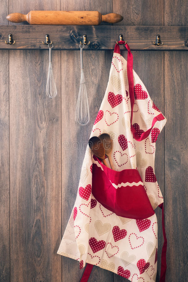 Avental da cozinha foto de stock