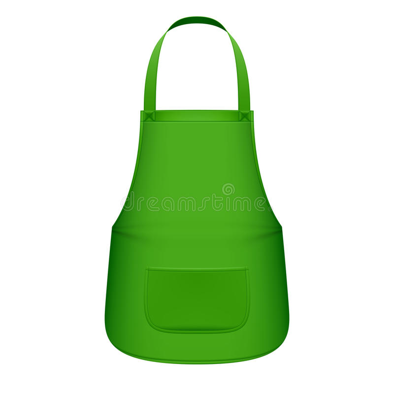 Avental verde da cozinha ilustração do vetor